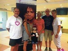 Liver transplant recipients Alan Bone, Lawren Staunton,