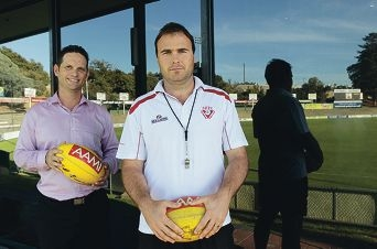 South Fremantle Football chief executive Stuart Kemp and head coach Paul Hasleby. Picture: Martin Kennealey d416301
