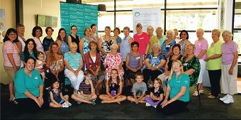 Miracle Babies Foundation members thanked local knitters for their contribution of teddies.