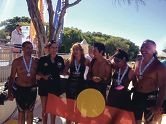 The first indigenous team in the Rottnest Channel Swim.