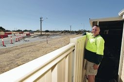 Heavy breathing: Success resident Garry Brownlie is worried that the dust is a health hazard.