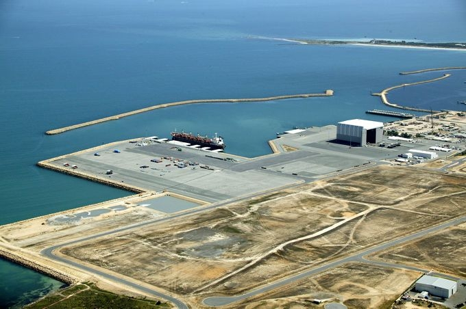 Aerial shot of the Australian Marine Complex today.