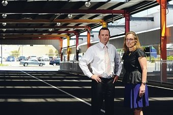 Mirrabooka rail-roaded: Opposition leader Mark McGowan with Mirrabooka MLA