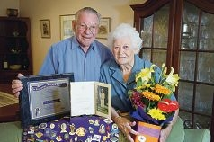 Jack and Kath Le Cras recently celebrated 65 years of marriage. Picture: Emma Reeves d416517