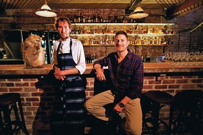 Varnish on King head chef David Allison and owner Andy Freeman. Picture: Andrew Ritchie www.communitypix.com.au d404314