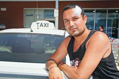 Taxi driver Harvinder Singhwas bashed after taking a fare to Hazelmere.