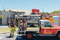 Fast food fire quickly quelled