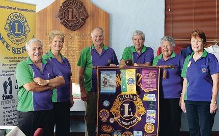 Lions Club of Fremantle membersTerry Iannello, Marg Sparkman, Arthur Bushe-Jones, president John Kirkwood , Margaret Amm and Dora Bushe-Jones.
