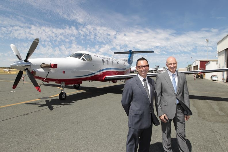Richard O'Connell (Head of Community and Indigenous Affairs  with BHP Billiton) and Grahame Marshall (Chie Executive Officer Royal Flying Doctor Service).