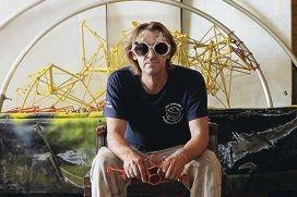 Hamilton Hill artist Jon Denaro's sculpture Biomimic is an experimental piece. Picture: Martin Kennealey www.communitypix.com.au d415576