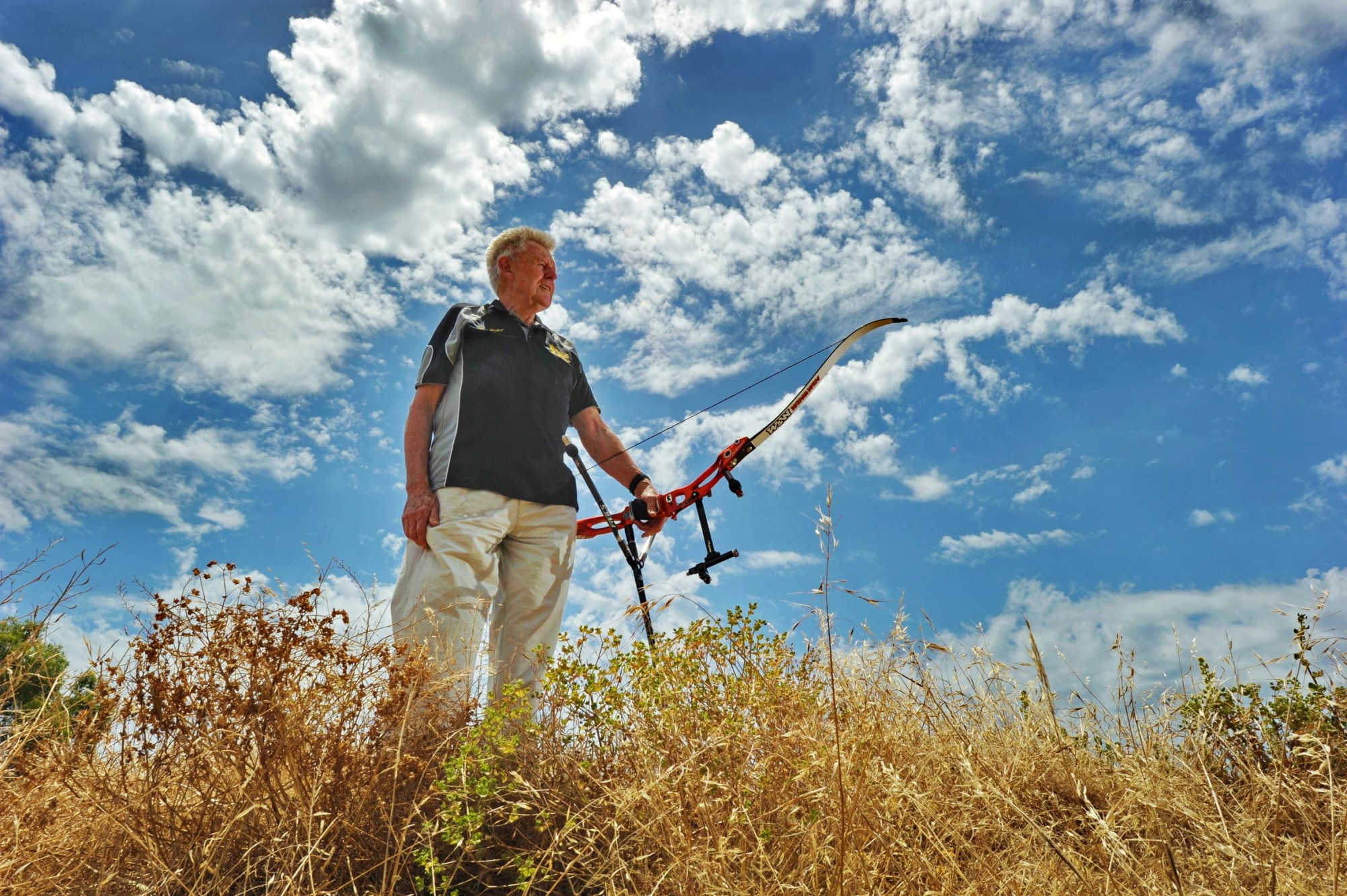 Former Olympic selector and archery great Keith Gaisford. Picture: Jon Hewson www.communitypix.com.au d411841