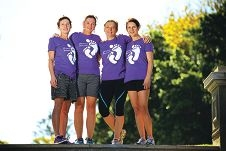 Margie Oldfield, Marion Fredriksson, Liz Wray and Alison Davis (Mosman Park) Picture: Andrew Ritchie d415070