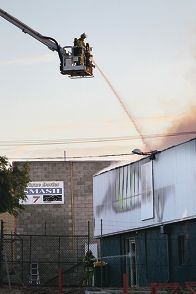 The AAA Production Services building on Malland Street was destroyed by fire last week. Pictures: Andrew Ritchie d415440