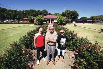 Victoria Park/Carlisle Bowling Club bar manager Rochelloe Teague, president Rod Wishart and bar chairman Allan Ring. Picture: Matt Jelonek d415425