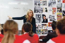Teacher Lisa Reynders in full flight in the classroom.