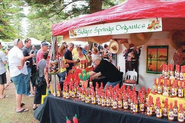 A stall at last year's Chilli Festival. This year promises to be even more popular.