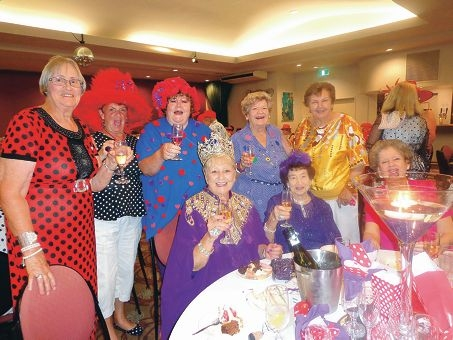 Empress Bev Fussell and some of Red Hatters WA's founding members.
