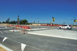 The new intersection at Aviator Boulevard and Marmion Avenue. Picture: Emma Reeves www.communitypix.com.au d415024