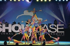Junior troupe Topsy Turvey perform at the national championships.