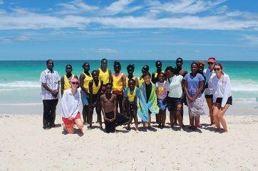 BeachSAFE program participants at Sorrento beach.