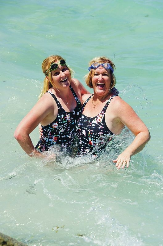 Shannon and her mother Paula Miller are taking part in the Rottnest Channel Swim as a duo. Picture: Emma Reeves www.communitypix.com.au d415139