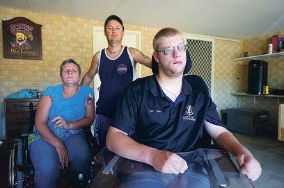Seeking more help... Vicki and Daniel Ceicys and Cameron Smith. Picture: Jon Hewson www.communitypix.com.au d414602