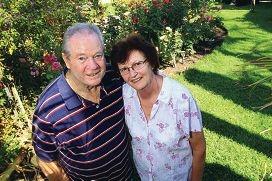 Bernie Rowney with his wife Angela Rowney