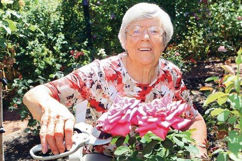 Helen Creagh in her garden. Picture: Bruce Hunt www.communitypix.com.au d414499