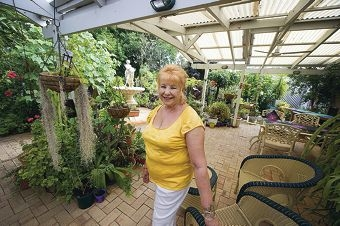 Anna Haydar is opening her beautiful garden for others to enjoy her winding boardwalks, a sunken garden, fountain, pool, waterfall and pagoda. www.community.pix.com.au394033