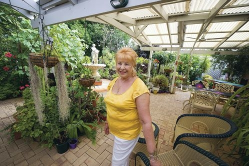 Anna Haydar is throwing the gate open on her lovely garden. Picture: Emma Reeves www.communitypix.com.au d394033