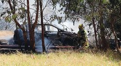 Fire crews attended two vehicle fires – one threatened a nearby child care centre.