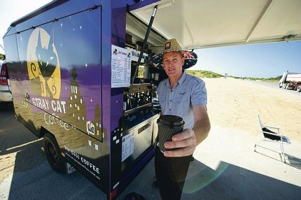 Lyndsay Bennett has started running mobile coffee business Stray Cat Coffee. Picture: Emma Reeves d414252