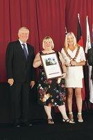 Premier Colin Barnett, Sue McDonald and Tracey Roberts.