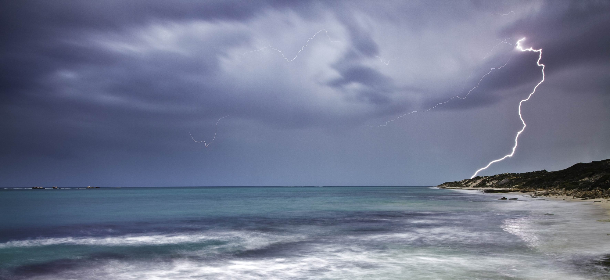 Jordan Cantelo's picture of a storm at Burns Beach was among the winners. Picture: Jordan Cantelo