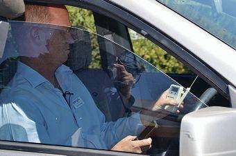 RSPCA WA chief executive David van Ooran sits inside a hot car to prove a point.