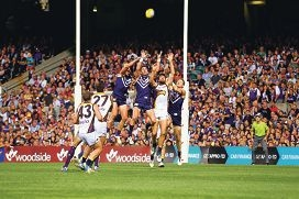 West Coast Eagles and the Fremantle Dockers match up in a derby at Arena Joondalup on February 18.