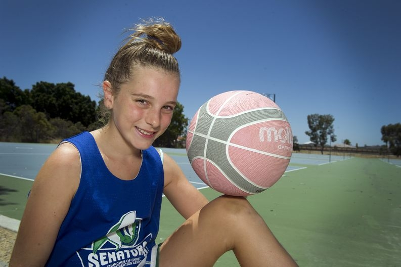 Chloe Forster (10 yrs) has been nominated for HBF junior sports hero