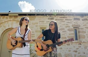 Rachel Gorman and Billie Rogers are looking forward to performing in the festival. Picture: Martin Kennealey www.communitypix.com.au d414131