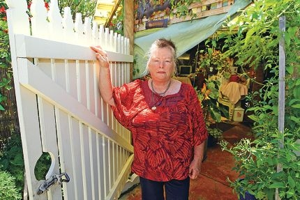Sandra Watters says she and her neighbours were shocked at the brazen thefts. Picture: Bruce Hunt www.communitypix.com.au d414211