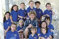 Lachlan Moody (13) of Henley Brook and other Camp Autism WA kids.