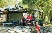 Callum Barton at AJS Motorcycle Club.