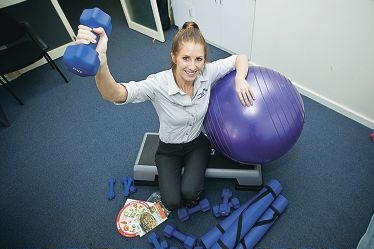 Dietician Deneka Pilmoor works in the program that combines educational and practical methods for better fitness. www.communitypix.com.au d413778
