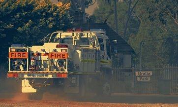 A Wanneroo Central Volunteer Bush Fire Brigade truck at Whiteman Park. Picture: Josh Tucker