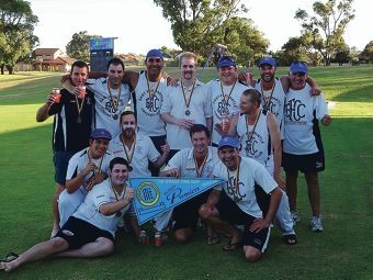 The victorious Grade 1 premiership team.
