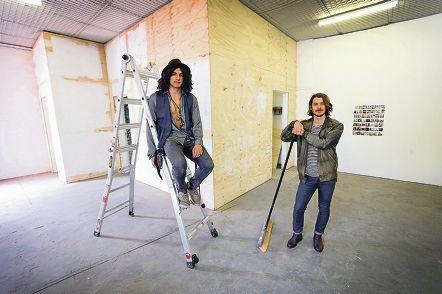Photographer Alexander Miller and filmmaker J'aime Fazackerley at Little Wing.