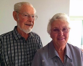 Left: Stan and Doreen Bathgate celebrate 60 years of marriage.