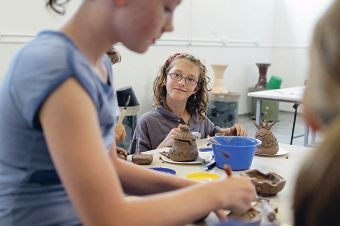 Abby Wilson (9), from Beaconsfield, enjoys an activity at the Fremantle Arts Centre.