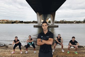 Fitfreek trainer Julio De Aguiar runs outdoor fitness classes. Picture: Martin Kennealey www.communitypix.com.au d413212
