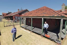 Partners: Brandon Pratley of Griffiths Architects and Max Brown of Defence Housing Australia.
