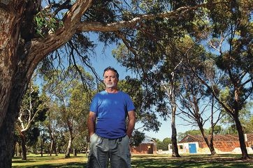 Peter Hancock is concerned at plans to replace native trees with imported trees. Picture: Martin Kennealey www.communitypix.com.au d413570